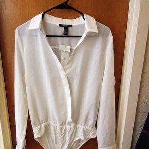 White sheer bodysuit